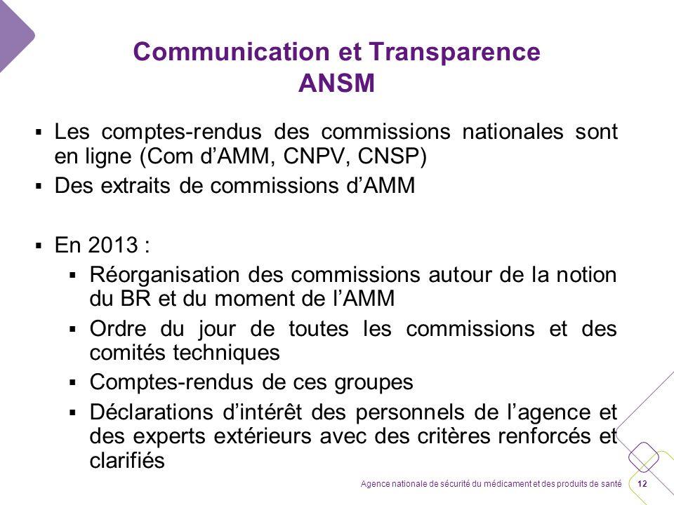 Communication et transparence Une attente forte Un défi à relever