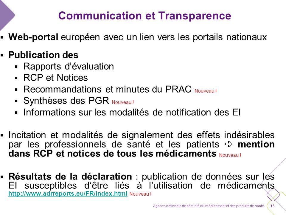 12Agence nationale de sécurité du médicament et des produits de santé Communication et Transparence ANSM Les comptes-rendus des commissions nationales