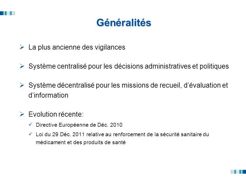 Généralités La plus ancienne des vigilances Système centralisé pour les décisions administratives et politiques Système décentralisé pour les missions