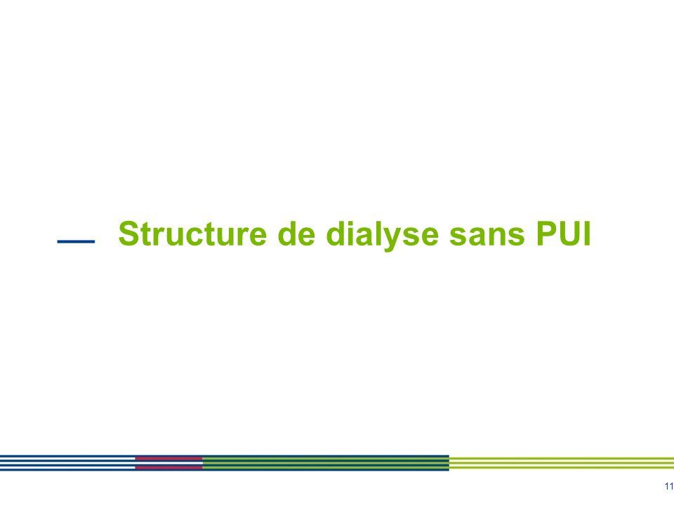 11 Structure de dialyse sans PUI