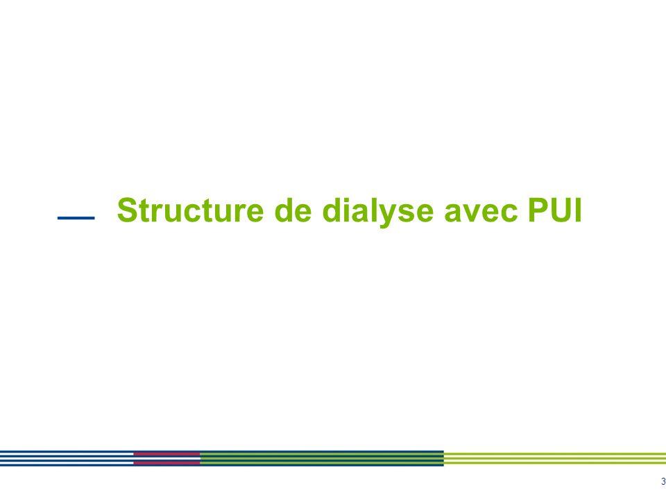 3 Structure de dialyse avec PUI