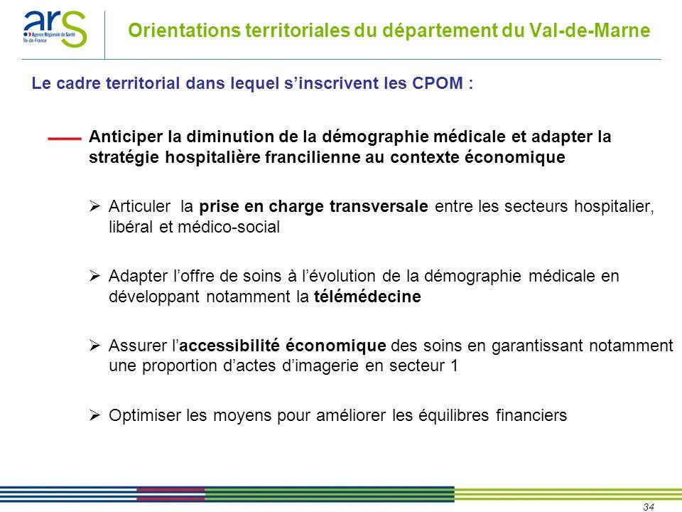 34 Anticiper la diminution de la démographie médicale et adapter la stratégie hospitalière francilienne au contexte économique Articuler la prise en c