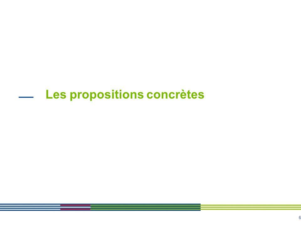 6 Les propositions concrètes