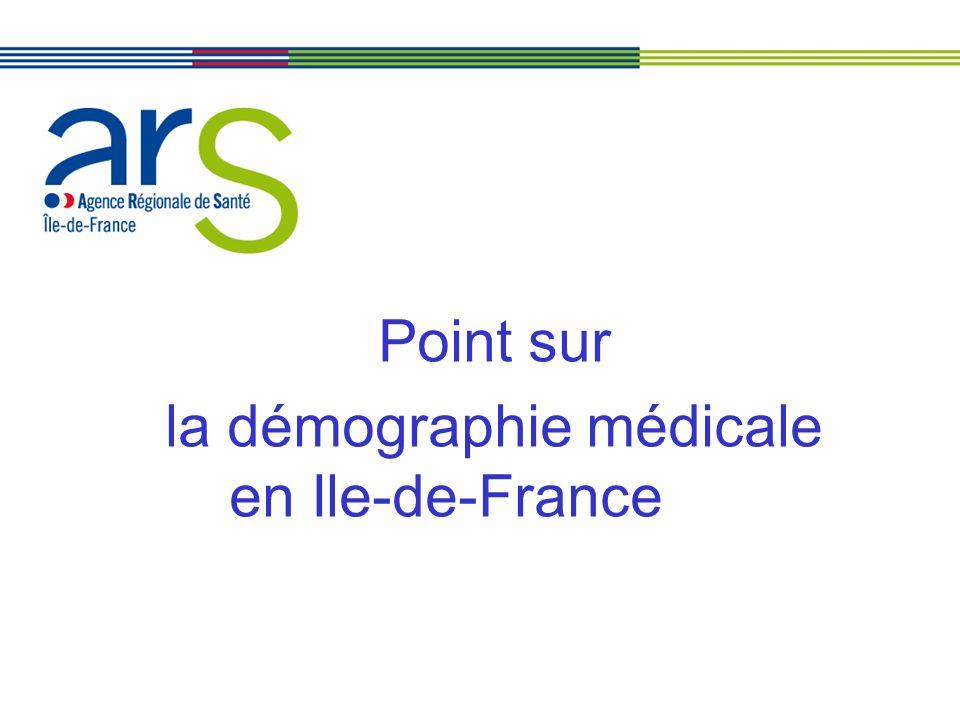 Point sur la démographie médicale en Ile-de-France