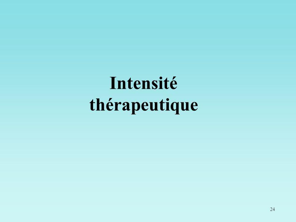 24 Intensité thérapeutique