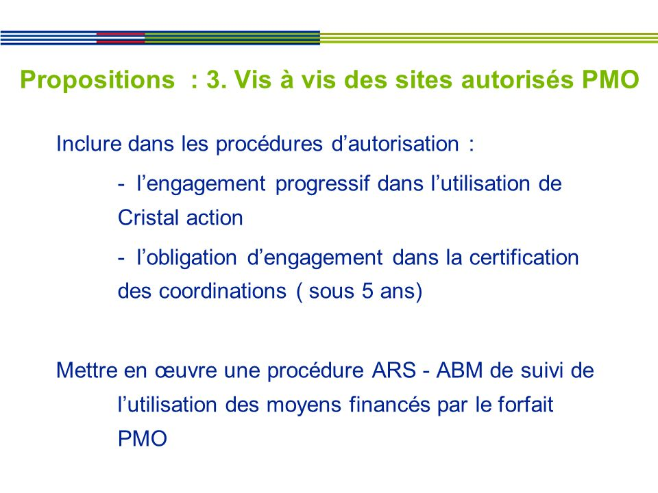 Propositions : 3.