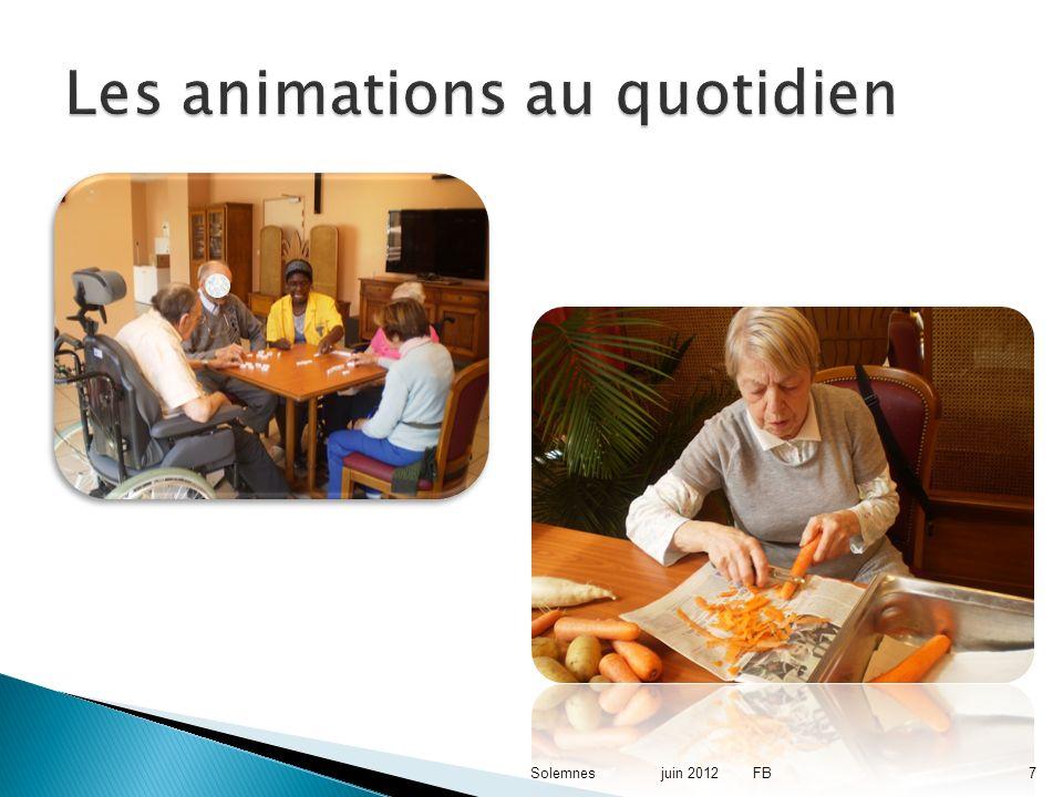 7 Les animations au quotidien