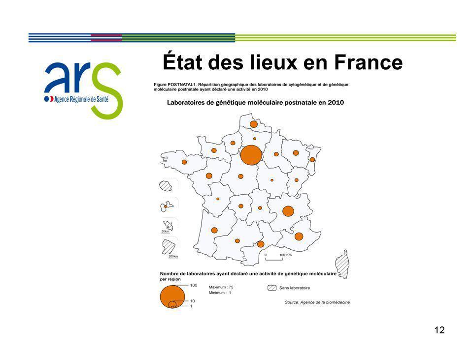 12 État des lieux en France
