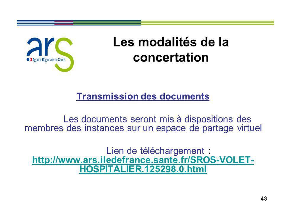 43 Transmission des documents Les documents seront mis à dispositions des membres des instances sur un espace de partage virtuel Lien de téléchargemen