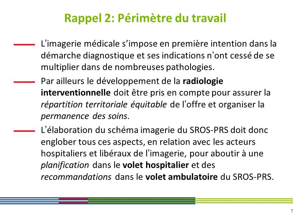 7 Rappel 2: Périmètre du travail Limagerie médicale simpose en première intention dans la démarche diagnostique et ses indications nont cessé de se multiplier dans de nombreuses pathologies.