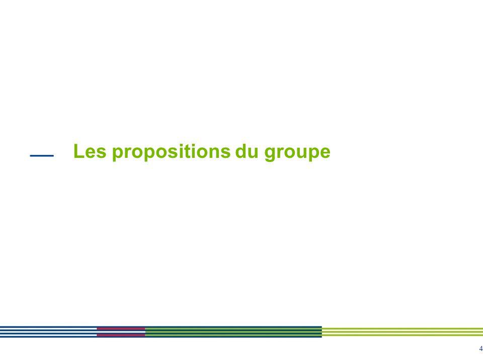 4 Les propositions du groupe