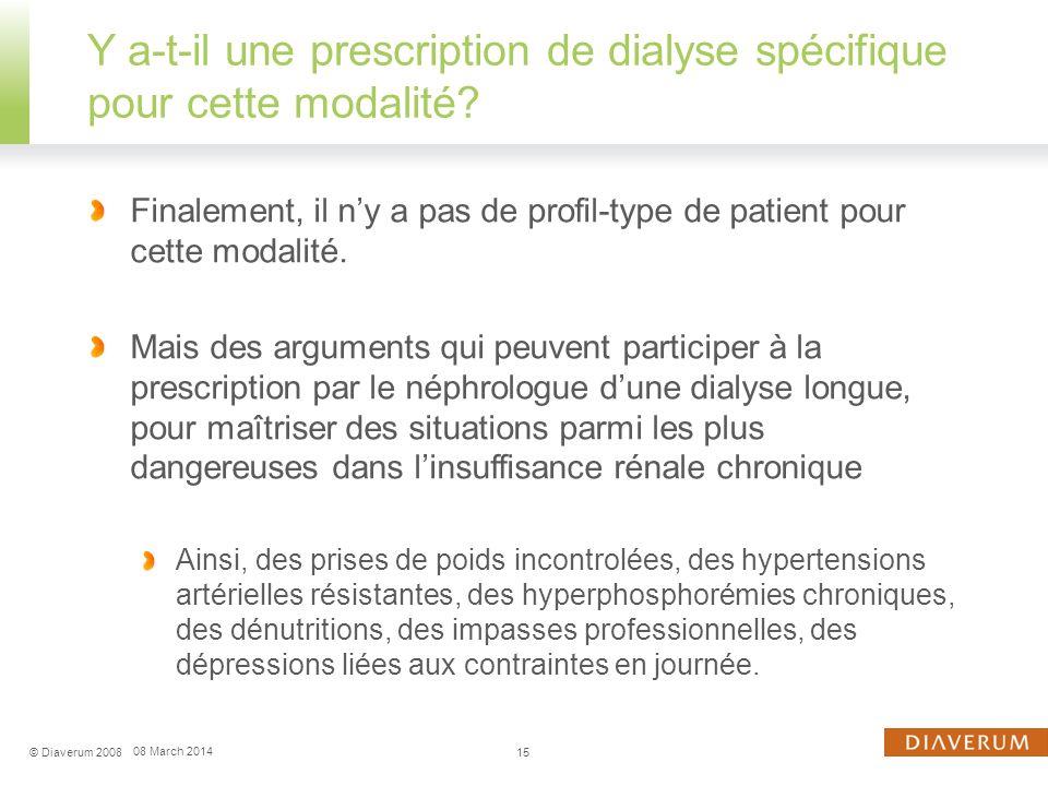 Indication de dialyse longue nocturne : de la dépression au retour à la ferraille 16© Diaverum 2008 08 March 2014
