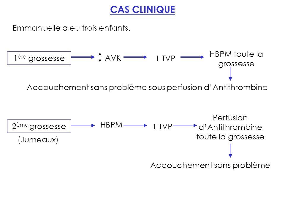 CAS CLINIQUE Emmanuelle a eu trois enfants.