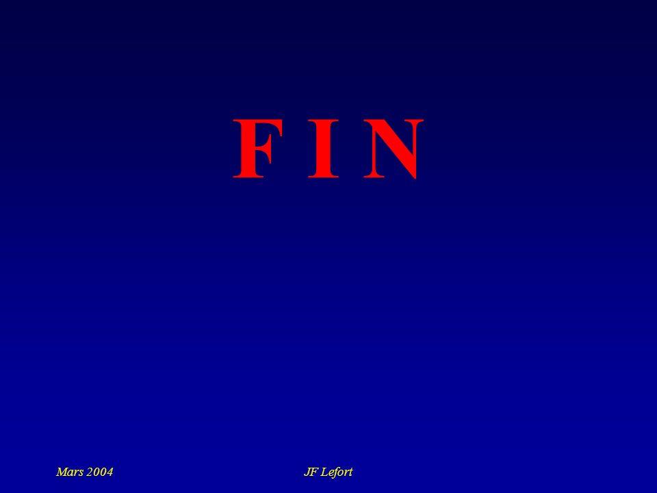 Mars 2004JF Lefort F I N