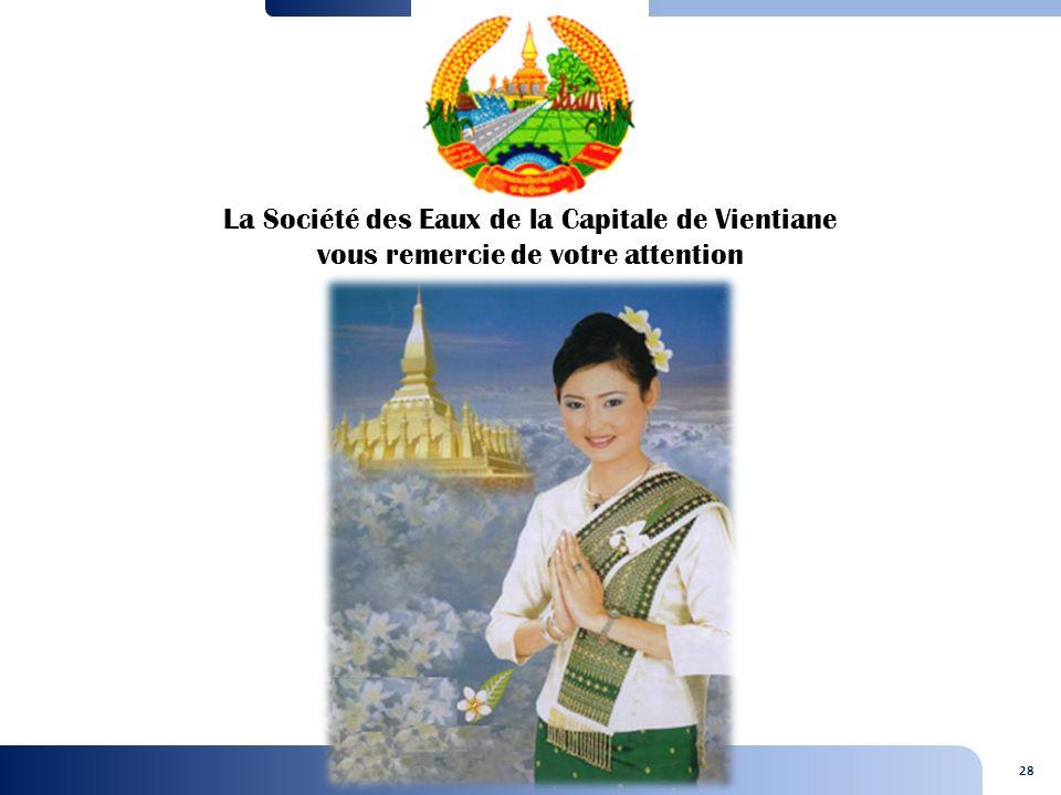 28 La Société des Eaux de la Capitale de Vientiane vous remercie de votre attention