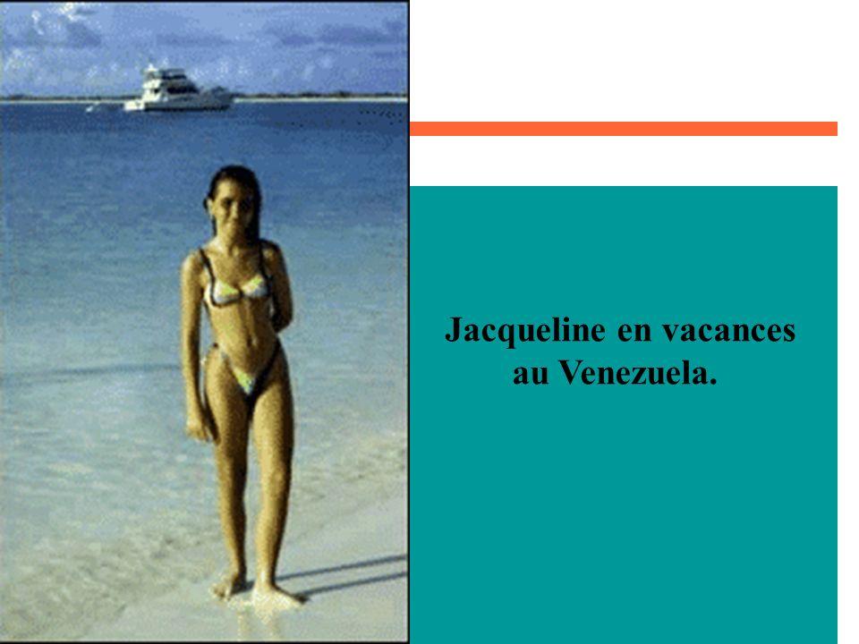 Jacqueline en vacances au Venezuela.