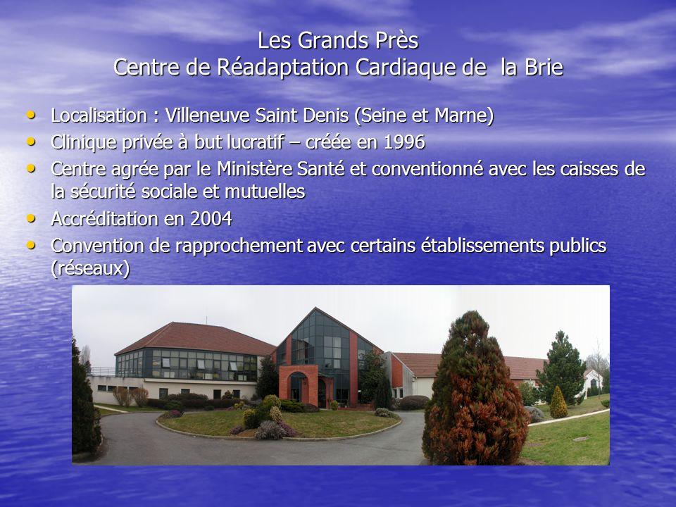Les Grands Près Centre de Réadaptation Cardiaque de la Brie Localisation : Villeneuve Saint Denis (Seine et Marne) Localisation : Villeneuve Saint Den