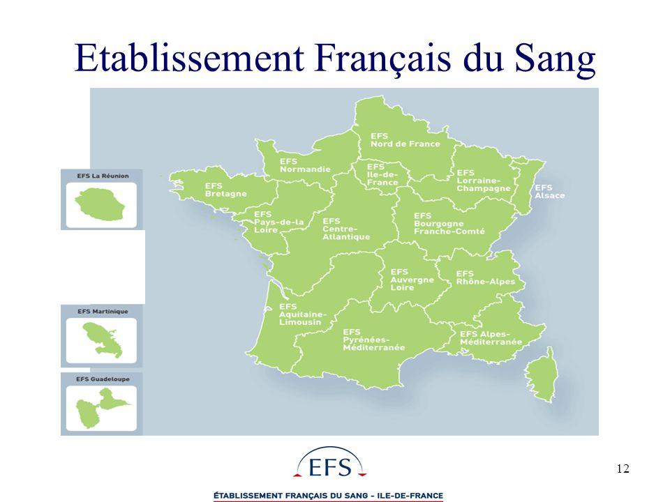12 Etablissement Français du Sang