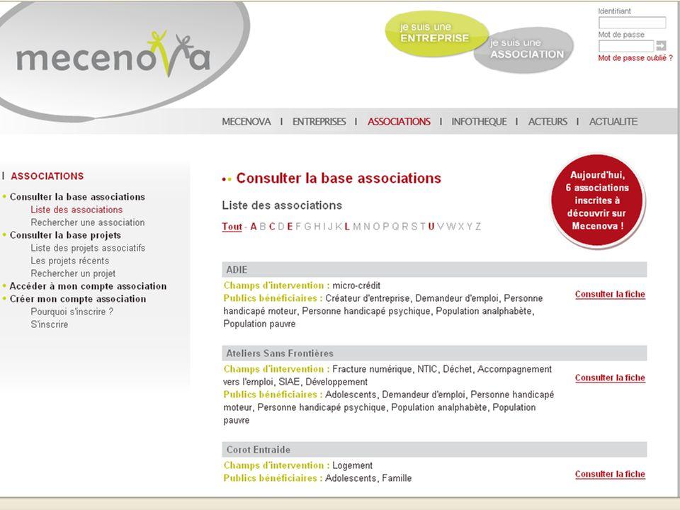 Colloque CPCA 6 juillet 2009 10 Présentation du site