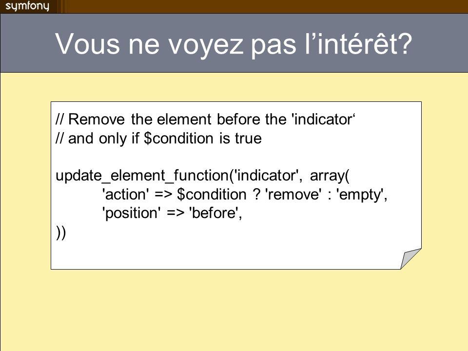 Mode dégradé contient de lHTML pour les navigateurs sans javascript You have JavaScript enabled.
