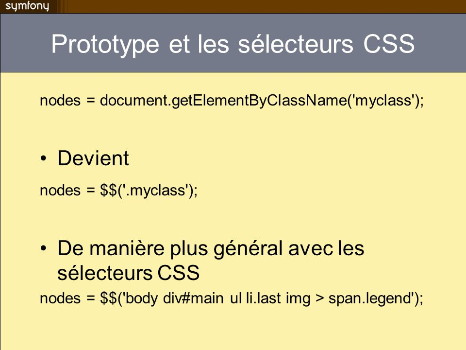 Autocomplètion Find an author by name: <?php echo input_auto_complete_tag( author , default name , author/autocomplete , array( autocomplete => off ), array( use_style => true) ) ?> Retour attendu de author/autocomplete suggestion1 suggestion2...