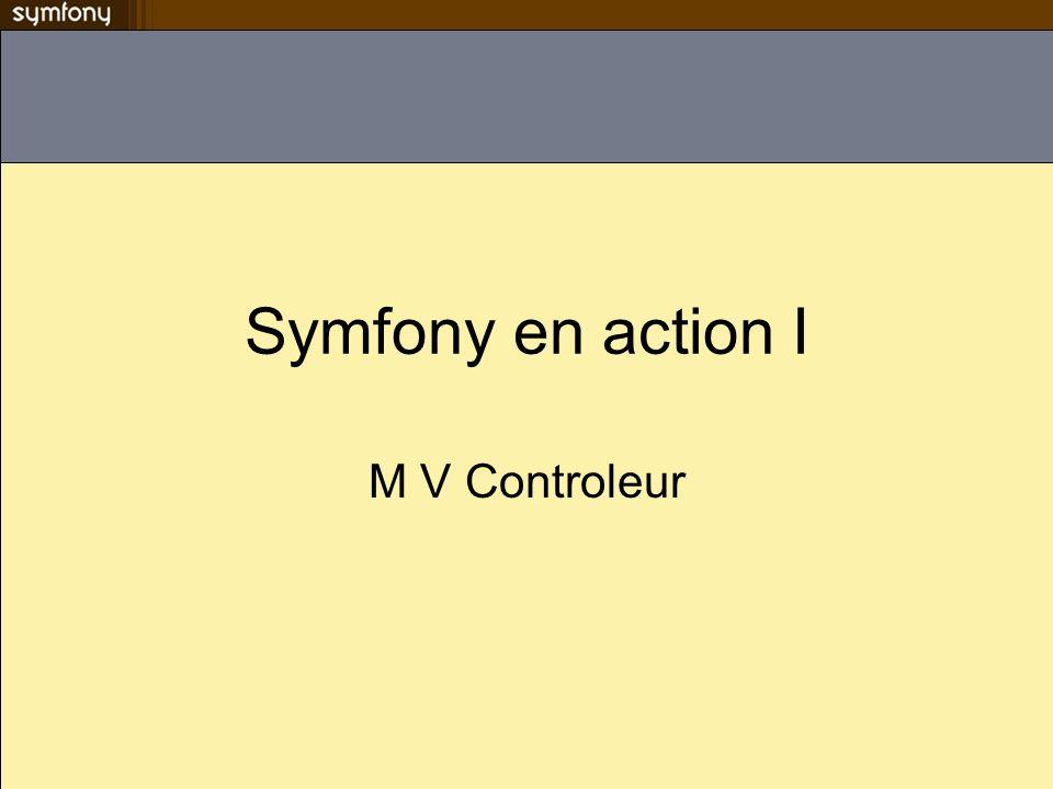 Symfony en action I M V Controleur