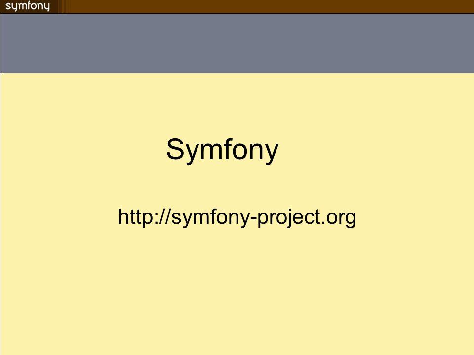 Côté serveur (apache) Cest le dossier web qui est servi par apache Un alias doit être créé pour rendre les feuilles de styles, images et javascripts du framework (installé pans le répertoire PEAR) accessibles mode_rewrite doit être activé Noubliez pas de recharger la conf du serveur (avec classe ;-) ) apache2ctl graceful Tester myapp.example.com