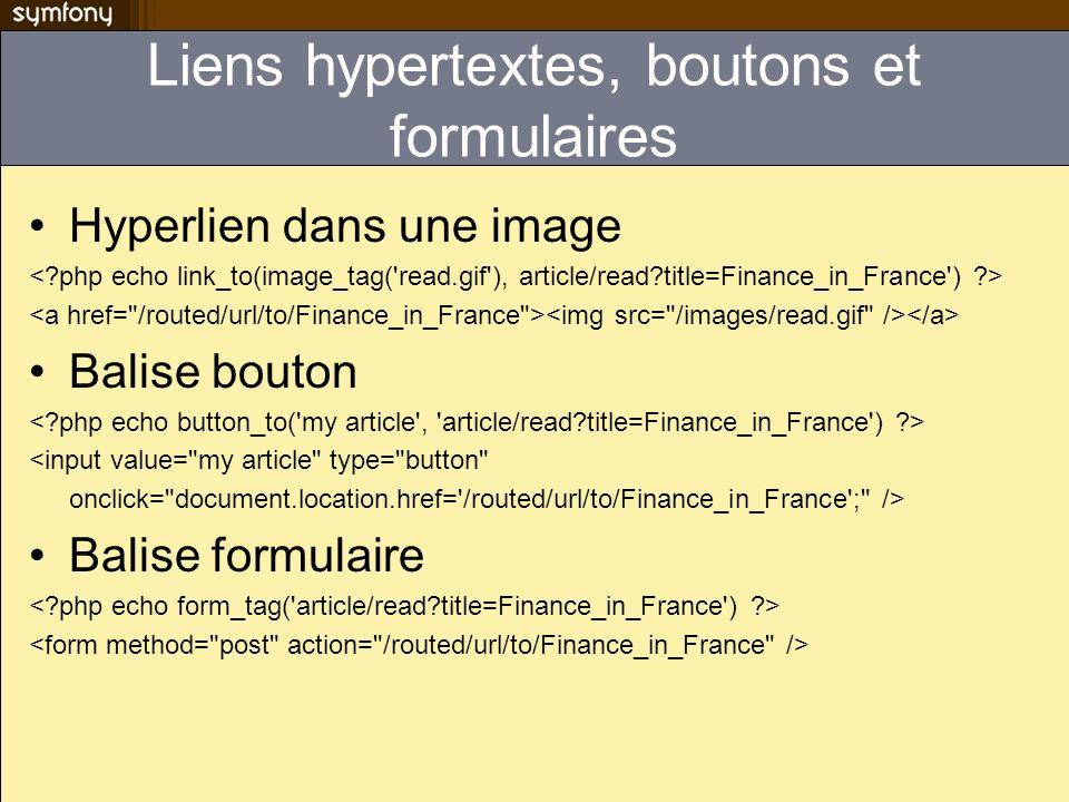 Liens hypertextes, boutons et formulaires Hyperlien dans une image Balise bouton <input value=