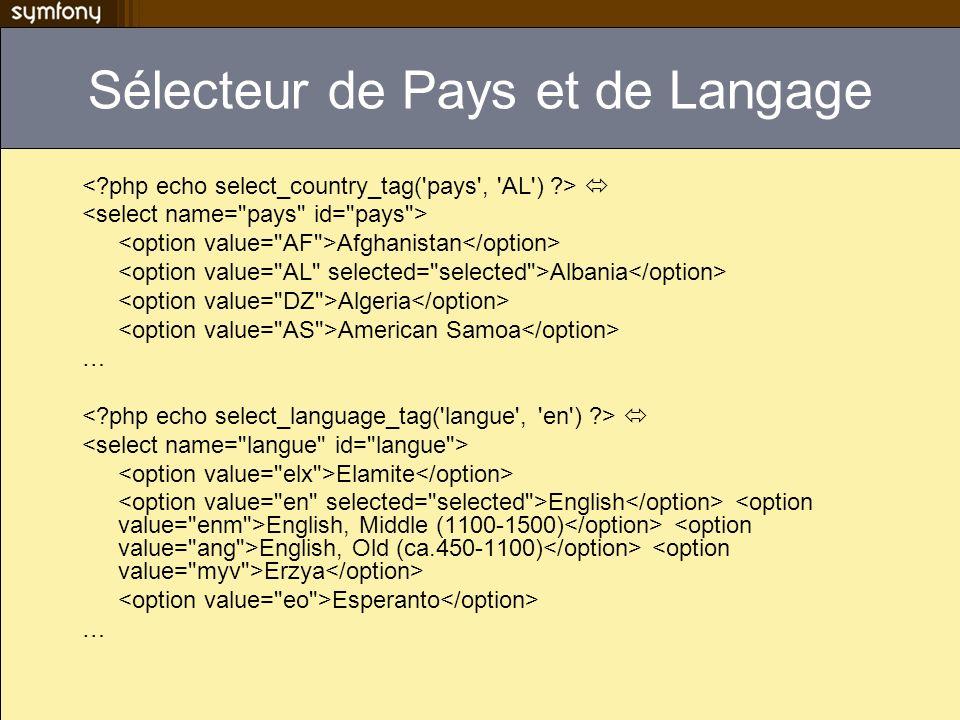 Sélecteur de Pays et de Langage Afghanistan Albania Algeria American Samoa … Elamite English English, Middle (1100-1500) English, Old (ca.450-1100) Er
