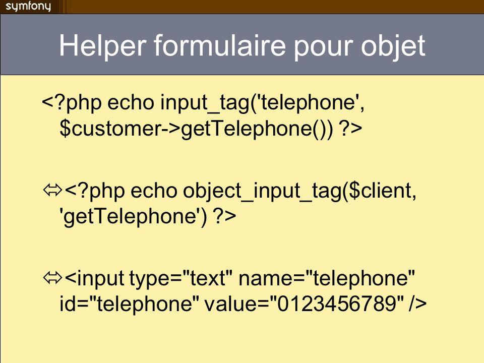 Helper formulaire pour objet getTelephone()) ?>