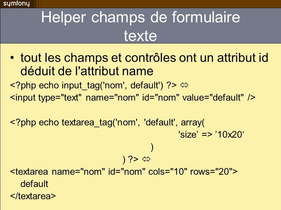Exécution dun validateur sur un champs vide Exemple du changement de mot de passe fields: password1: password2: sfCompareValidator: check: password1 compare_error: passwords mismatch Valide un mot de passe blanc!.