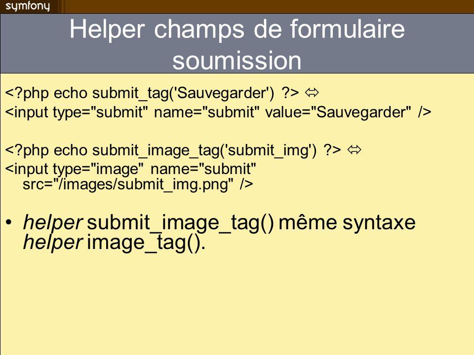 Code contrôleur typique Dans laction $options = array(); foreach ($authors as $author) { $options[$author->getId()] = $author->getName(); } $this->options = $options; Dans le template MIEUX!