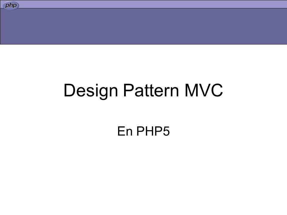 Design Pattern MVC En PHP5