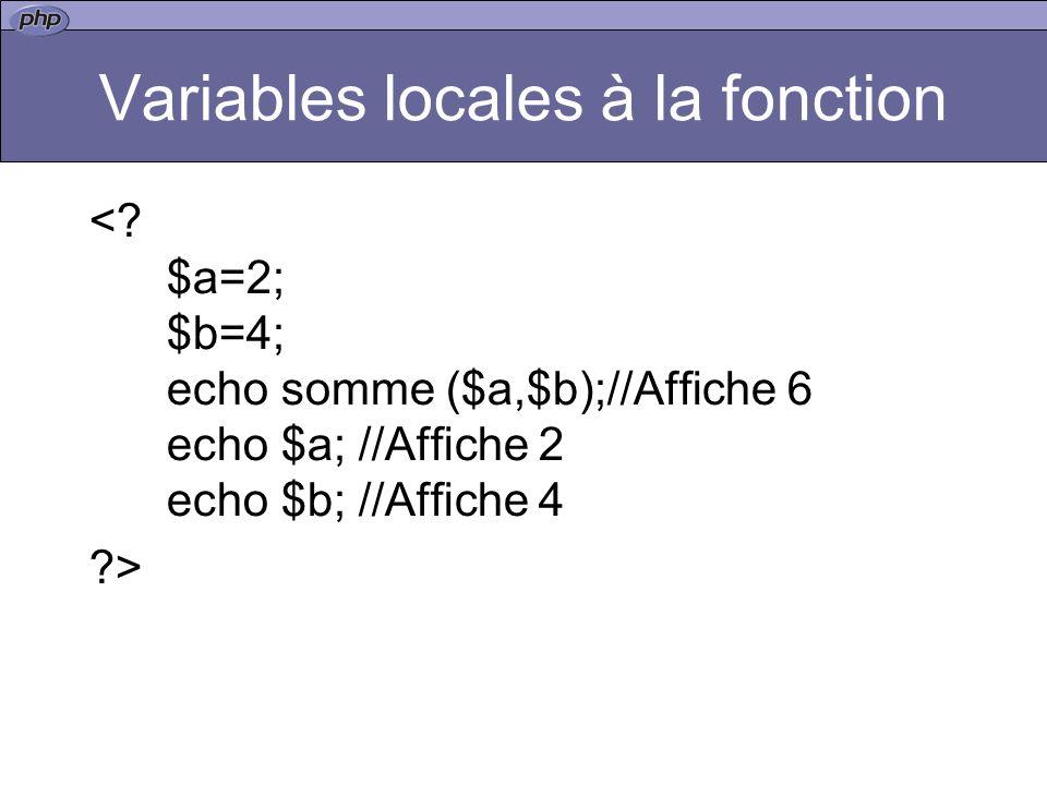 Variables locales à la fonction <.