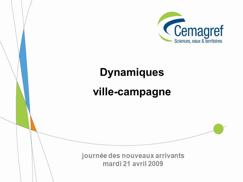 Dynamiques ville-campagne journée des nouveaux arrivants mardi 21 avril 2009