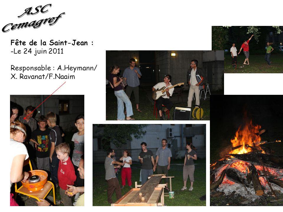 Fête de la Saint-Jean : -Le 24 juin 2011 Responsable : A.Heymann/ X. Ravanat/F.Naaim