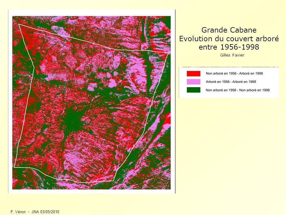 F. Véron - JNA 03/05/2010 Grande Cabane Evolution du couvert arboré entre 1956-1998 Gilles Favier