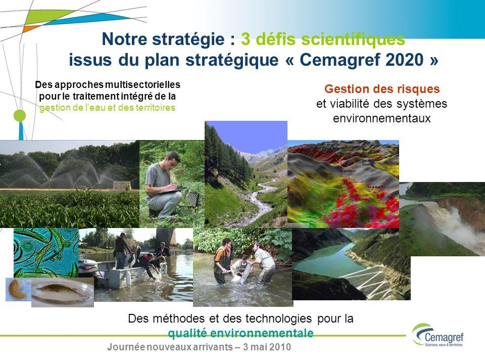 Des approches multisectorielles pour le traitement intégré de la gestion de leau et des territoires Notre stratégie : 3 défis scientifiques issus du p