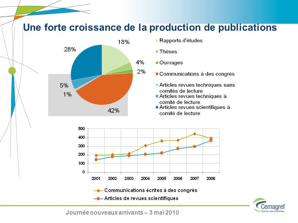 Une forte croissance de la production de publications Journée nouveaux arrivants – 3 mai 2010