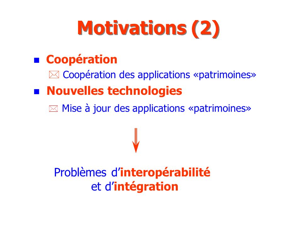 n LObject Management Group (OMG) n IDL : Langage de spécification n ORB : Bus de communication entre objets n Méthodologie de développement et application Plan