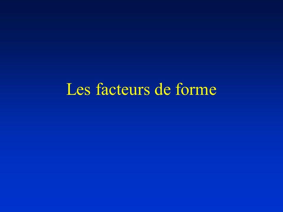 Les facteurs de forme