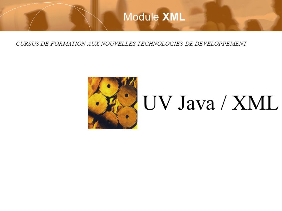 Module UV Java / XML Page 32 / 119 Deruelle Laurent Copyright © 2002 Laurent Deruelle Attribut prédéfini n Indication de langue aquarelle Water –la valeur de l attribut xml:lang est hérité dans l arbre des éléments