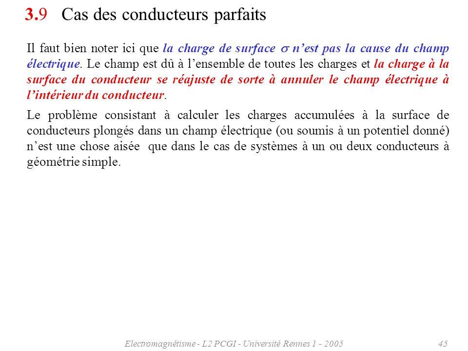 Electromagnétisme - L2 PCGI - Université Rennes 1 - 200545 Il faut bien noter ici que la charge de surface nest pas la cause du champ électrique. Le c