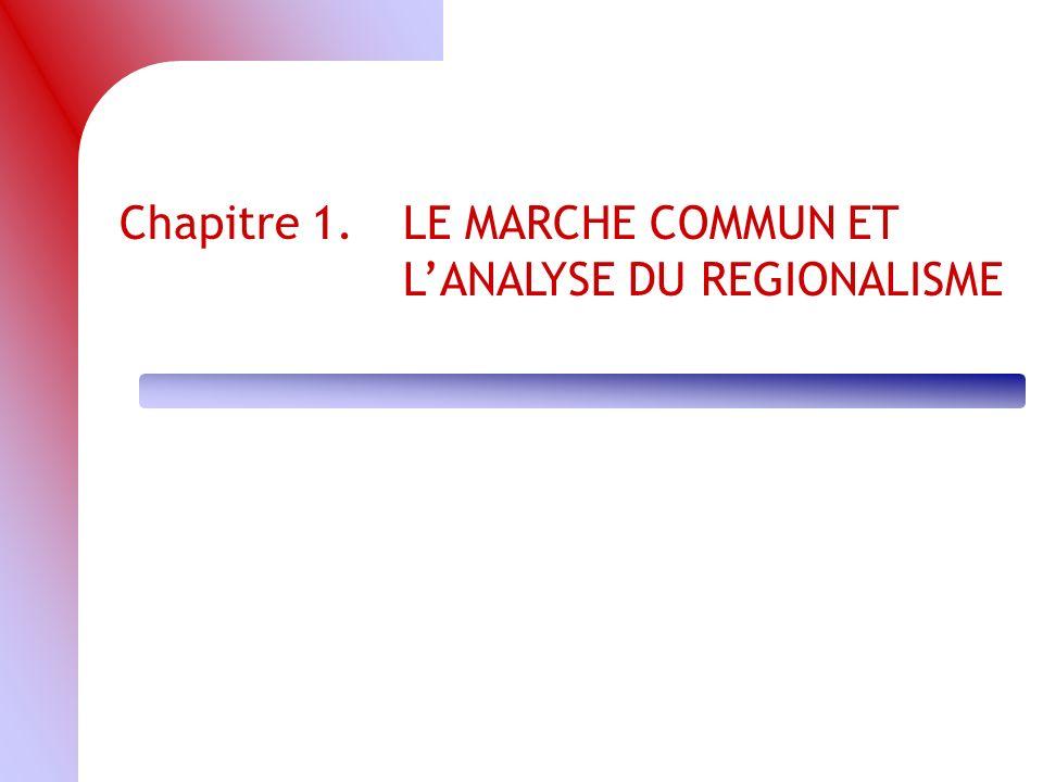 Chapitre 1.LE MARCHE COMMUN ET LANALYSE DU REGIONALISME