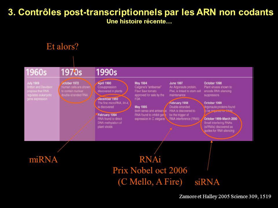Exemple 2 Les ARNm des cytokines ou proto-oncogènes sont souvent très instables Cette instabilité leur est conférée par un élément de désadénylation dans la 3 UTR L inactivation de cet élément conduit à la surexpression de la protéine codée Cette surexpression peut être associée à une transformation cellulaire Contrôles aberrants de létat dadénylation des ARNm et pathologies humaines