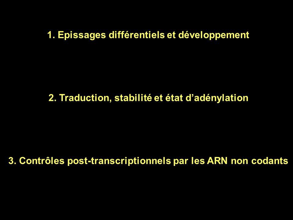 Alvarez-Garcia et Mlska 2005 Development 132, 4653 Rôle de miRNA dans la coordination dévènements de développement chez C.