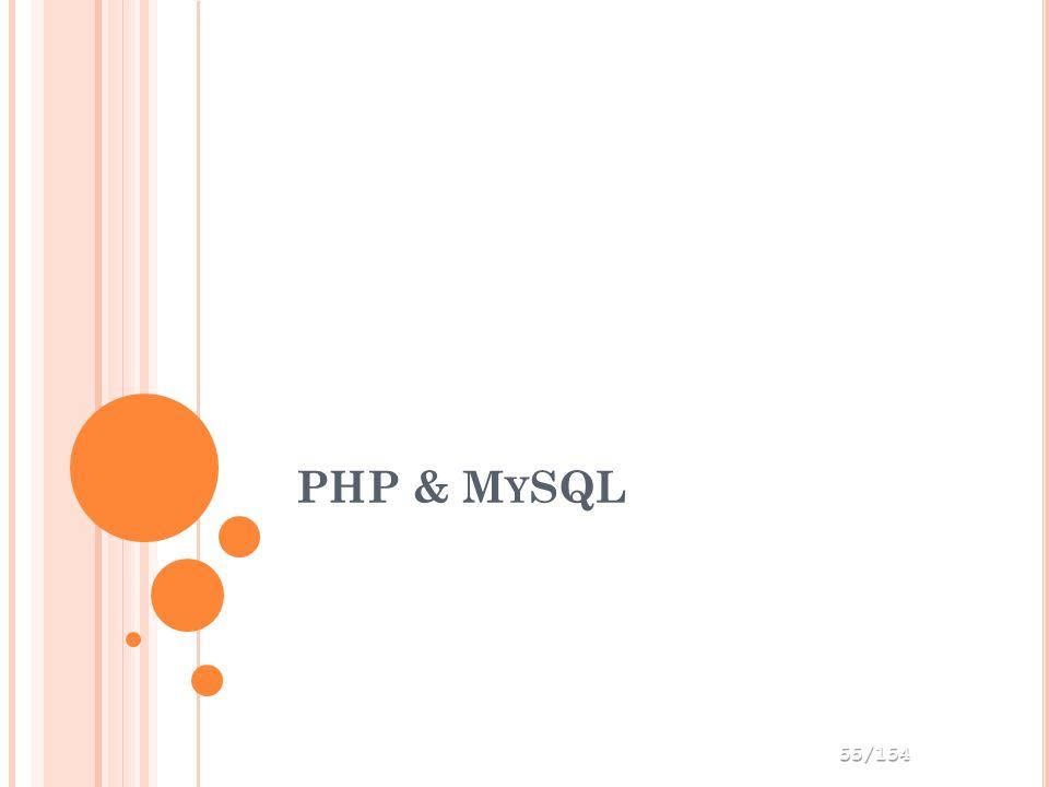 PHP & M Y SQL 55/154