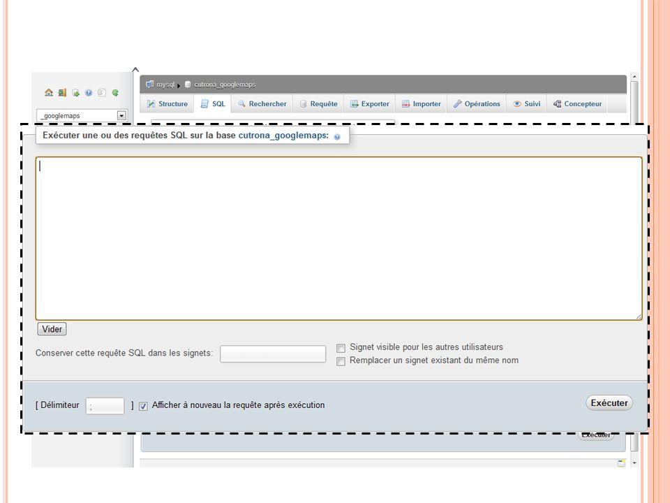 REQUÊTE DANS LA BASE 03:32:45 72 Programmation Web 2011-2012