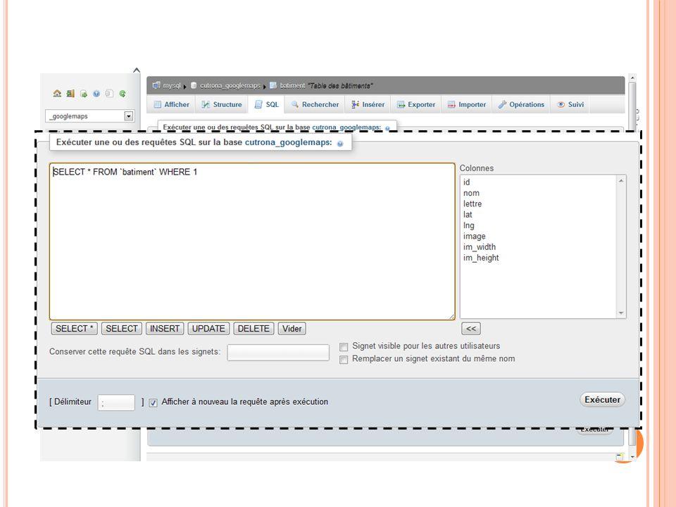 REQUÊTE SUR UNE TABLE 03:32:45 77 Programmation Web 2011-2012