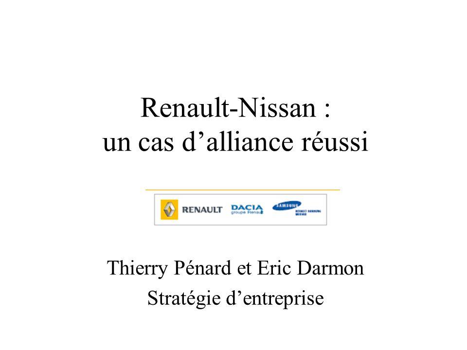 Renault-Nissan : un cas dalliance réussi Thierry Pénard et Eric Darmon Stratégie dentreprise